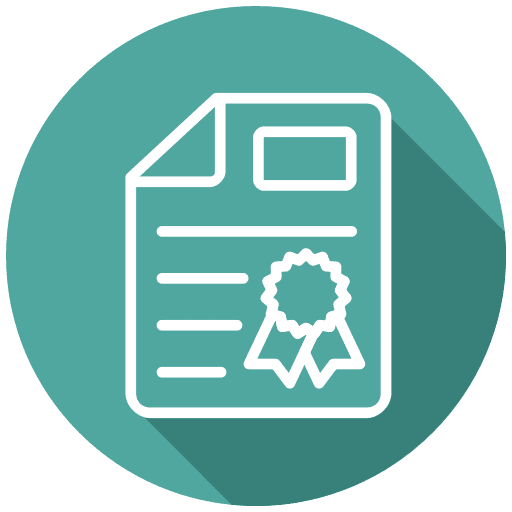 certificate for environmental compliance with electronic recycling and waste